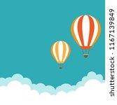 two orange hot air balloon... | Shutterstock .eps vector #1167139849