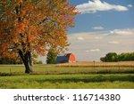 Beautiful Red Barn Rural Farm...