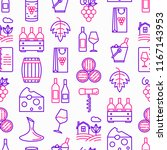 wine seamless pattern with thin ...   Shutterstock .eps vector #1167143953