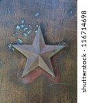 stars metal background... | Shutterstock . vector #116714698