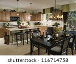 kitchen  interior design ... | Shutterstock . vector #116714758