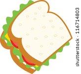 sandwich | Shutterstock .eps vector #116714803