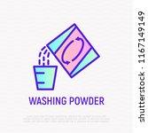 washing powder thin line icon ...   Shutterstock .eps vector #1167149149