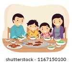 illustration of stickman family ... | Shutterstock .eps vector #1167150100