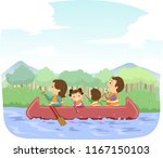 illustration of stickman family ... | Shutterstock .eps vector #1167150103