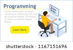 programming concept  isometric... | Shutterstock .eps vector #1167151696