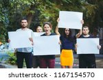 group of protesting young...   Shutterstock . vector #1167154570