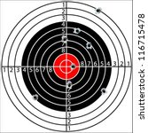 shooting target  with holes... | Shutterstock .eps vector #116715478