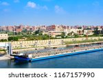 port said  egypt   view from... | Shutterstock . vector #1167157990