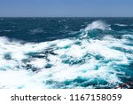 big waves at open sea. summer... | Shutterstock . vector #1167158059