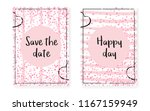 pink glitter sequins with dots. ... | Shutterstock .eps vector #1167159949