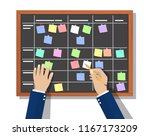 calendar schedule board with... | Shutterstock .eps vector #1167173209