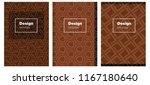 dark brown vector brochure for...