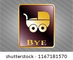 gold shiny emblem with baby... | Shutterstock .eps vector #1167181570