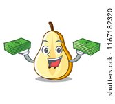 with money half of pear... | Shutterstock .eps vector #1167182320