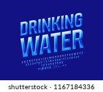 vector blue sign drinking water.... | Shutterstock .eps vector #1167184336