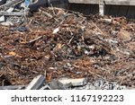 Large Heap Of Wood Debris From...