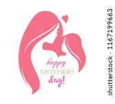 happy mothers day greeting card ... | Shutterstock .eps vector #1167199663