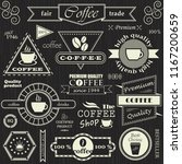 set of coffee labels  badges... | Shutterstock . vector #1167200659