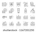 skin care icon set. included... | Shutterstock .eps vector #1167201250