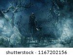 nightmare with bogeyman  boy... | Shutterstock . vector #1167202156