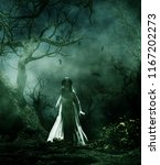 Ghost Bride In Creepy Forest 3d ...