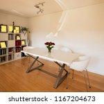 elegant dining room in a modern ... | Shutterstock . vector #1167204673