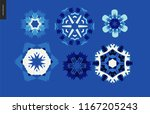 winter kaleidoscopic patterns   ...   Shutterstock .eps vector #1167205243