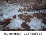 old metal iron rust background...   Shutterstock . vector #1167205516