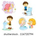 illustration of kids and... | Shutterstock .eps vector #116720794