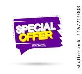 special offer  sale banner... | Shutterstock .eps vector #1167211003