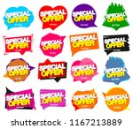 set special offer banners  sale ... | Shutterstock .eps vector #1167213889