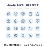 outline icon set of business... | Shutterstock .eps vector #1167214336
