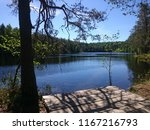 Summery view of a lake in the National Park of Konnevesi in Finland