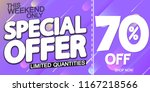 special offer  sale poster...   Shutterstock .eps vector #1167218566
