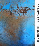 the old metal blue barrel.... | Shutterstock . vector #1167220606
