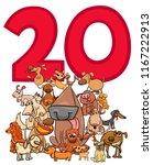 cartoon illustration of number... | Shutterstock .eps vector #1167222913