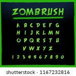 zoombrush green font | Shutterstock .eps vector #1167232816