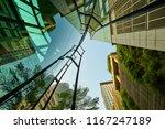 low angle shot of modern glass... | Shutterstock . vector #1167247189