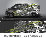 cargo van wrap design vector.... | Shutterstock .eps vector #1167253126