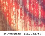 old fence with red cracked... | Shutterstock . vector #1167253753