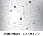 abstract doodle internet of...   Shutterstock .eps vector #1167255670