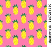 illustration of pineapple on... | Shutterstock .eps vector #1167256360