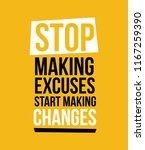stop making excuses  vector...   Shutterstock .eps vector #1167259390