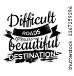 difficult roads often lead to...   Shutterstock .eps vector #1167259396