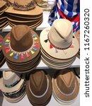 shop of hats  hats in the shop ...   Shutterstock . vector #1167260320