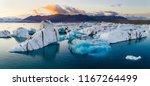 glacier lagoon in iceland... | Shutterstock . vector #1167264499