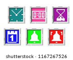 time related icons. a set of... | Shutterstock .eps vector #1167267526