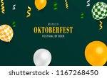 oktoberfest banner design. 3d... | Shutterstock .eps vector #1167268450