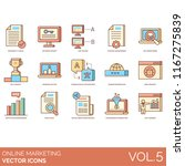 online marketing icon set.... | Shutterstock .eps vector #1167275839